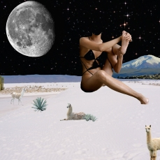 moon and desert